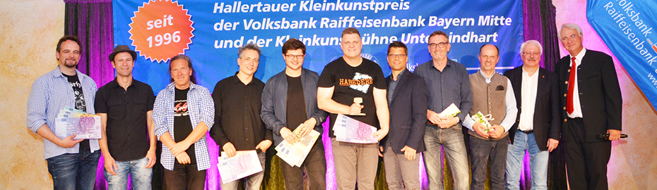 Sieger, Organisatoren und Sponsoren beim 24. Hallertauer Kleinkunstpreis